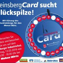 HeinsbergCard sucht Glückspilze
